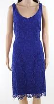 Lauren Ralph WOMENS Slim-Fit Floral Lace Sheath Dress-DAME/PURPLE-10 - $33.66