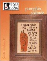 Pumpkin Solitude autumn fall cross stitch chart Heart in Hand  - $7.20