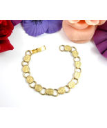 YOUNG AND GAY Goldtone SARAH COVENTRY BRACELET Vintage FLOWER Round Flor... - $23.99