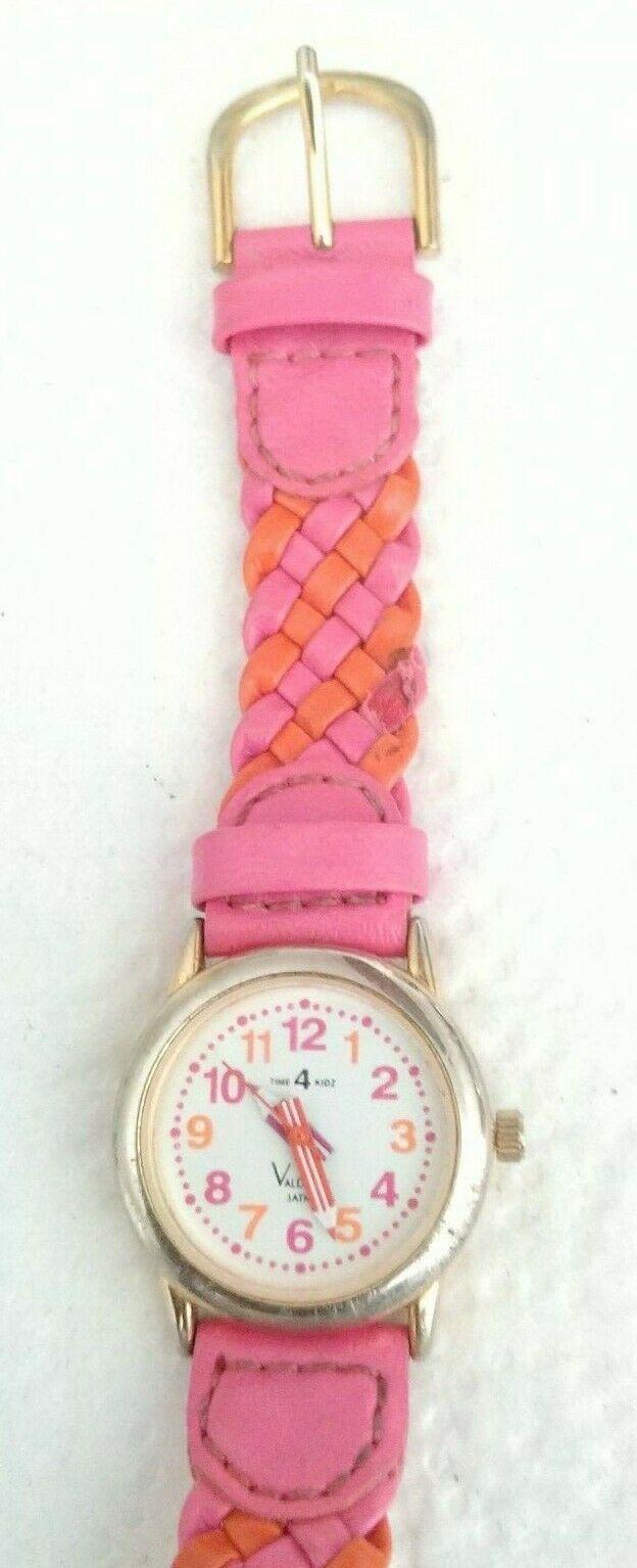 Time4Kidz Watch - Valdawn Vintage Water ressistant  Pink Leather Strap image 3