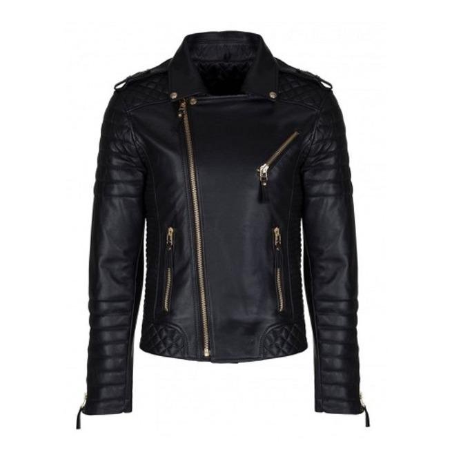 Mens Genuine Real Lambskin Leather Motorcycle Jacket, Men Motorcycle Jacket for sale  USA