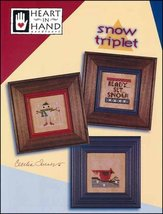 Snow Triplet holiday cross stitch chart Heart in Hand  - $7.20