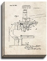 Binocular Microscope Patent Print Old Look on Canvas - $39.95+