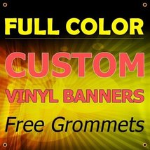 NEW 3'x15' Custom Full Color Vinyl Banners Indoor/Outdoor Personalized Banners w - $127.51