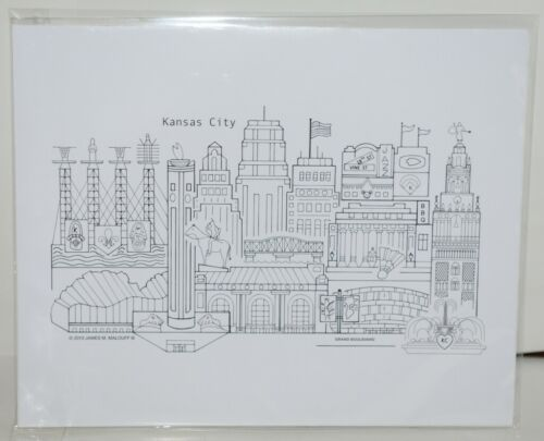 GP1 Hand Drawn Kansas City Graphic Print by James M Malouff lll