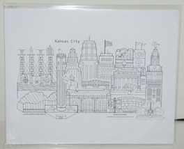 GP1 Hand Drawn Kansas City Graphic Print by James M Malouff lll image 1
