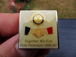 AMERICAN LEGION TOGETHER WE CAN,DALE PETERSON 1996-97 SOUVENIR HANDSHAKE... - $14.25