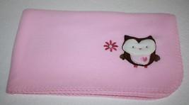 Circo BABY BLANKET Owl Corner Security Solid Pink Fleece Flower Heart Ta... - $408,56 MXN
