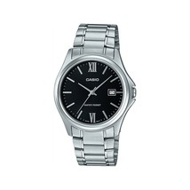 Casio MTP-1404D-1A2 Men's Dress Stainless Steel Black Dial 3-Hand Date W... - $37.65