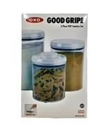 OXO Good Grips 1128780 Clear White Round Shaped Pop Canister Set 3 Piece - $35.27