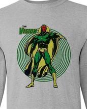 The Vision t-shirt retro marvel comics avengers graphic long sleeve tee image 2