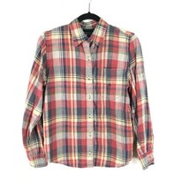 Lauren Ralph Lauren Womens Sz S Plaid Button Front Shirt 100% Linen Tab ... - $25.23