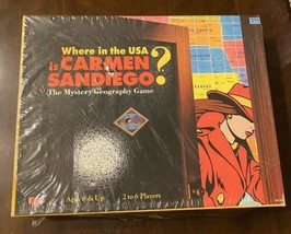 Vintage Where In The USA Is Carmen Sandiego? Board Game New Sealed RARE ... - $32.18