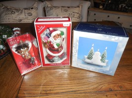 2pc Mixed Lot Christmas Tree Ornament Set Betty Boop Santa & Snowman Can... - $20.77