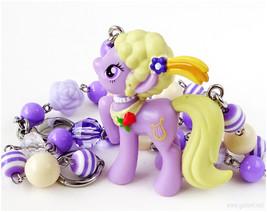 My Little Pony Necklace, Lyrica Lilac Figure, Little Girls Jewelry, Kawaiii - $27.00