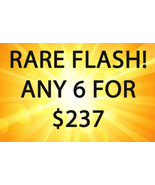 MON-TUES FLASH PICK ANY 6 FOR $237 BEST OFFERS MAGICK  - $237.00