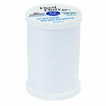COATS & CLARK XP Thread WHITE 3 SPOOLS 100% Cotton 250 yards each 35 wt - $9.41