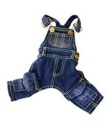 Tromy Pet Jean Clothes Dog Denim Overall/Poloshirt 8 Styles 5 Sizes (XXS... - $20.14