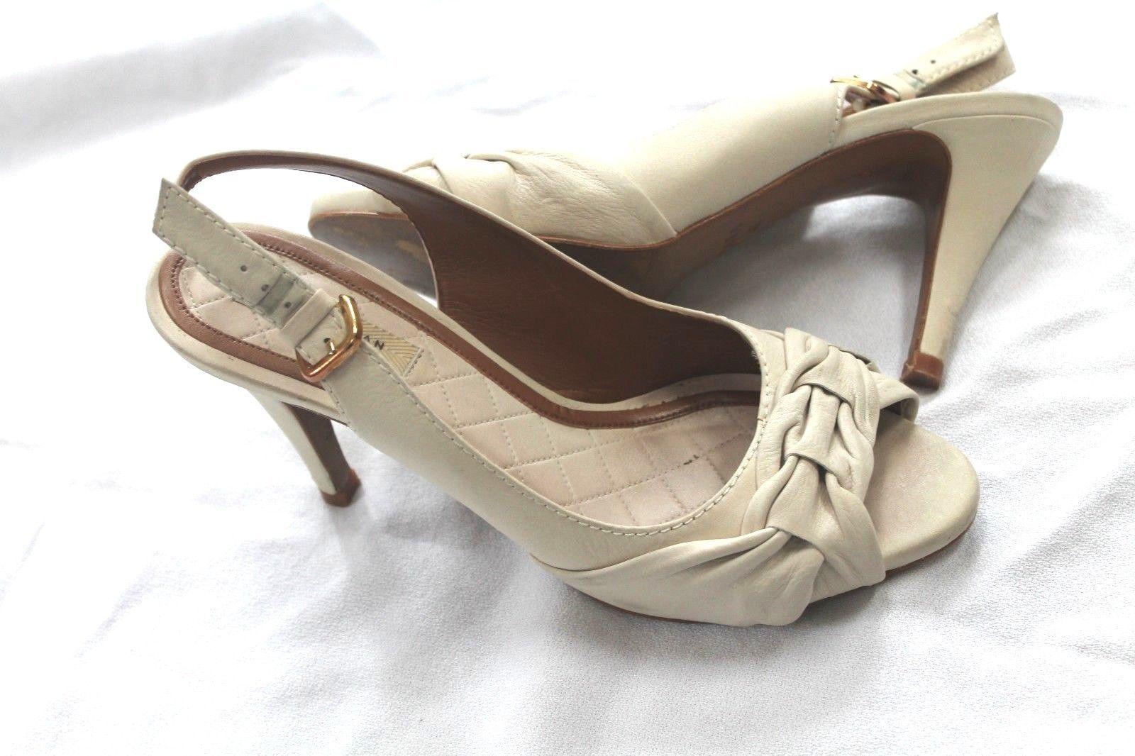 e457096a0c ZARA Ivory Open Toe Slingback SANDALS Shoes Size Eur 40 Us 9 - $38.61