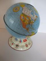 "Vintage Airlines 7"" Tall Metal Bank Globe - $14.84"