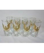 Vintage Americana Glasses Tumblers Liberty Eagle Motif Set of 8 SEARS - $98.99