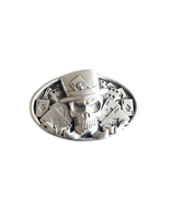 New Original Vintage Skull Tattoo Poker Casino Oval Belt Buckle Gurtelsc... - $7.55