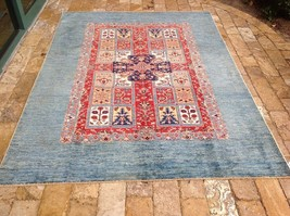 "Oriental Rug Fine super Kazak Wool  Hand Knotted Tribal Design Rug 5' 10 x 8' 0"" - $1,475.10"