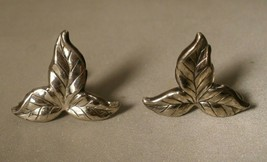 Danecraft Sterling Leaf Screw Back Earrings - $12.00