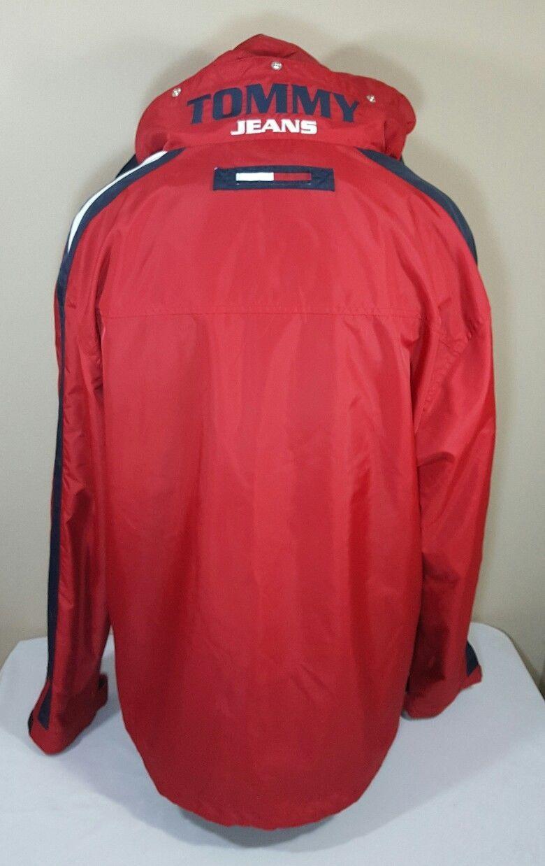 VTG Tommy Hilfiger Jacket Flag Windbreaker Colorblock 90's Spell Out XL Coat image 3