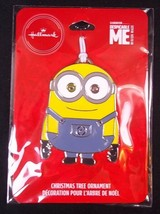 Hallmark Despicable Me MINION BOB flat metal Christmas ornament on card 2019 NEW - $6.76