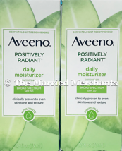 (2) Aveeno Positively Radiant Daily Moisturizer 2.5 oz each SPF 30 4/202... - $19.68