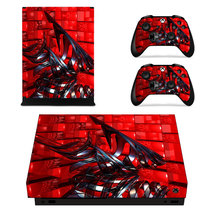 Metal Structure Decal Xbox one X Skin for Xbox Console & 2 Controllers - $15.00