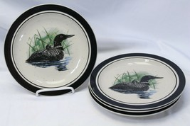 "Folkcraft Loon Lake Salad Plates 8.625"" Lot of 4 - $29.39"