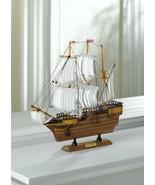 MAYFLOWER SHIP Wooden Model Nautical Decor Historical Theme - $39.60