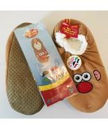 Mr Potato Head Men's Slipper Socks Sz 7 1/2- 9 1/2 Interchangeable Patches! - $14.25
