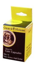 Guardhouse Half Dollar 30.6mm Direct Fit Coin Capsules, 10 pack - $6.99