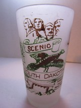 Vintage Souvenir Scenic South Dakota Collectable Frosted Glass Tumbler F... - $8.79