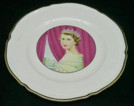 1953 QUEEN ELIZABETH CORONATION COMMEMORATIVE PLATE ALLEN HUGHES CASTLET... - $24.74