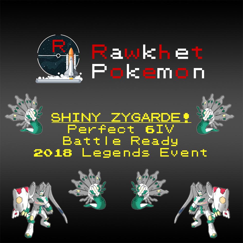 Shiny Zygarde (6IV, Event, Battle Ready)