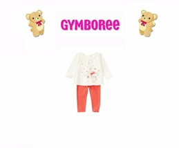 "Gymboree Baby Girls ""Bear-Y New"" Collection 2 Piece Set NWT Size 0-3m - $24.70"