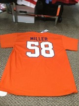 NWT Denver Broncos Von Miller Orange NFL Team Apparel Jersey T-Shirt Lar... - $17.81