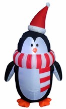 4 Foot Tall Lighted Christmas Inflatable Cute Penguin with Scarf Yard De... - €40,00 EUR