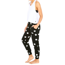 Terez Women Silver Star Foil French Terry Jogger image 3