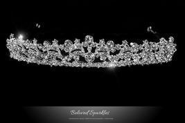 Kandace Classic Art Deco Silver Tiara | Swarovski Crystal - $58.95