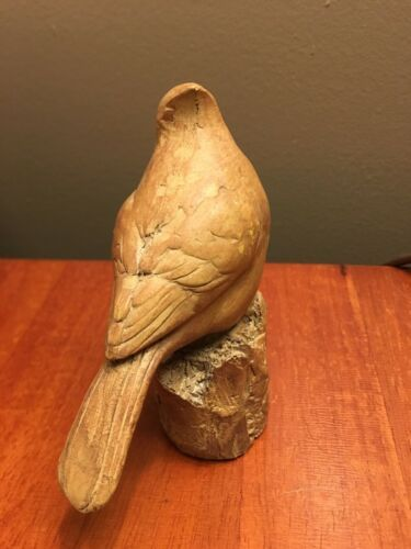 "Beautiful Carved Bird - 4"" tall"