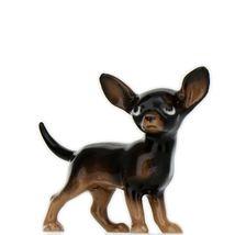 Hagen Renaker Dog Chihuahua Small Black and Tan Ceramic Figurine image 3