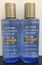 Neutrogena Oil-Free Eye Makeup Remover - 5.5 oz Each / Pack of 2 Exp:1/22 - $19.79