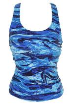 Go By Gossip Royal Blue Wind Blown Racerback Tankini Top S - $39.99