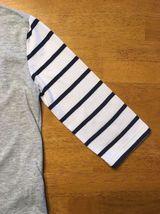 Gap Kids Girl's Gray, Blue & White Striped Pocket Shirt - Size: Medium image 7