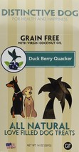 Dog Treat Dog, Duck Berry Quacker Training Grain Free Natural Dog Treat - $19.99